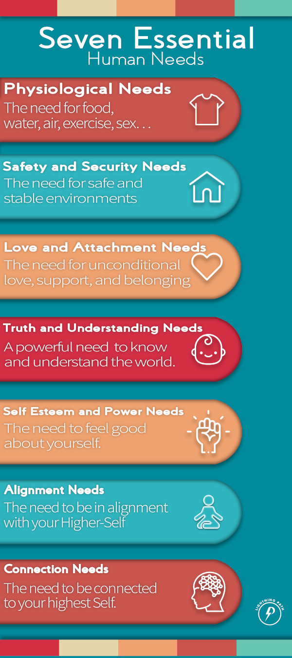 Graphic of the Seven Essential Needs